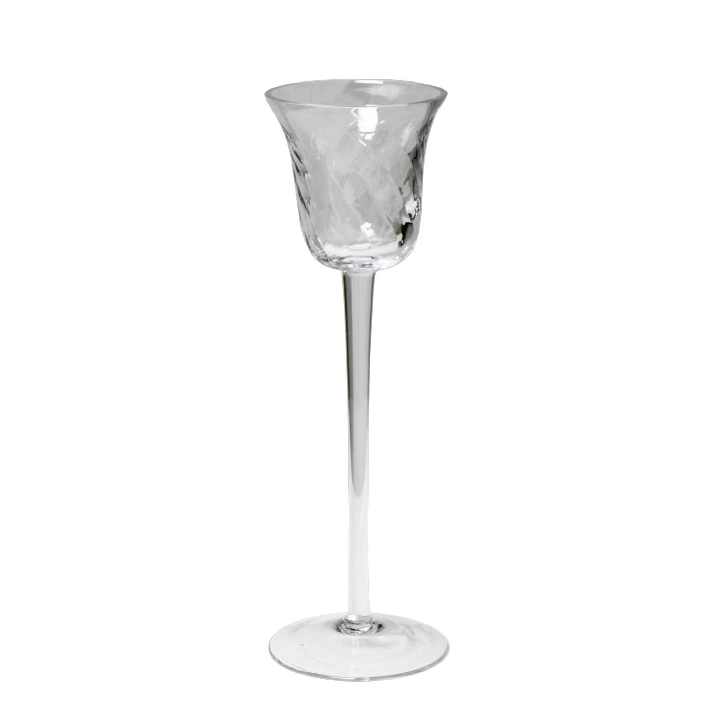 Fuss Glas 20cm Teelichthalter Votivkerzenhalter a