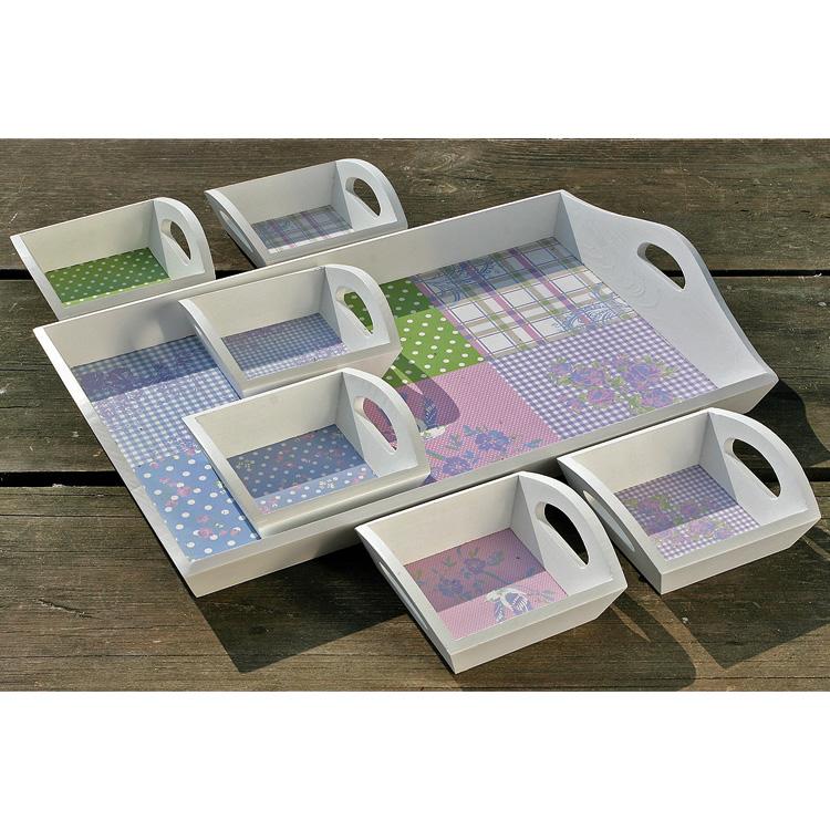 tablett a holz serviertablett wei pastell 15cm mod a. Black Bedroom Furniture Sets. Home Design Ideas