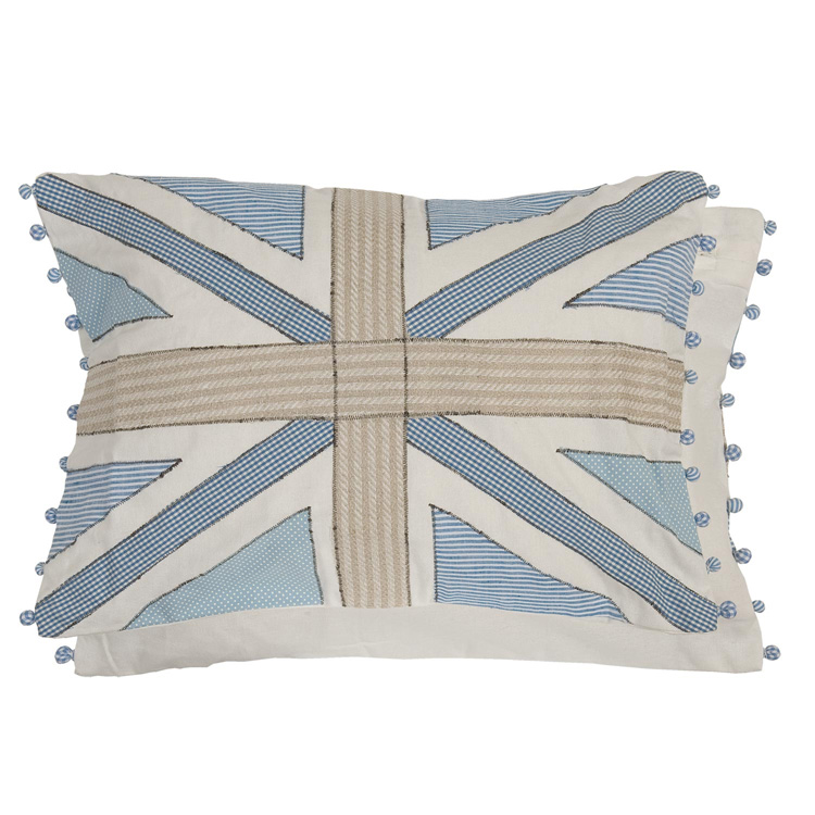 clayre eef kissen patchwork union jack blau 35x50cm 019803. Black Bedroom Furniture Sets. Home Design Ideas