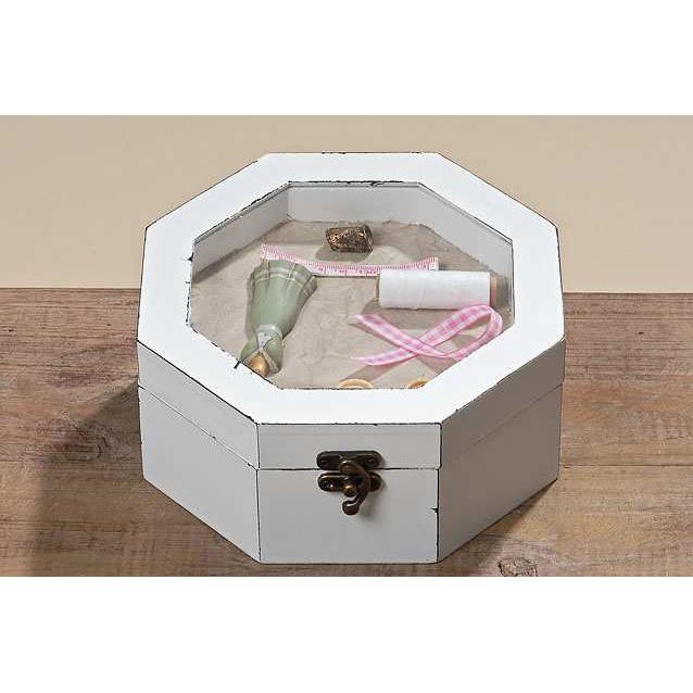 n hkasten vintage n hk stchen aus holz wei 020298. Black Bedroom Furniture Sets. Home Design Ideas