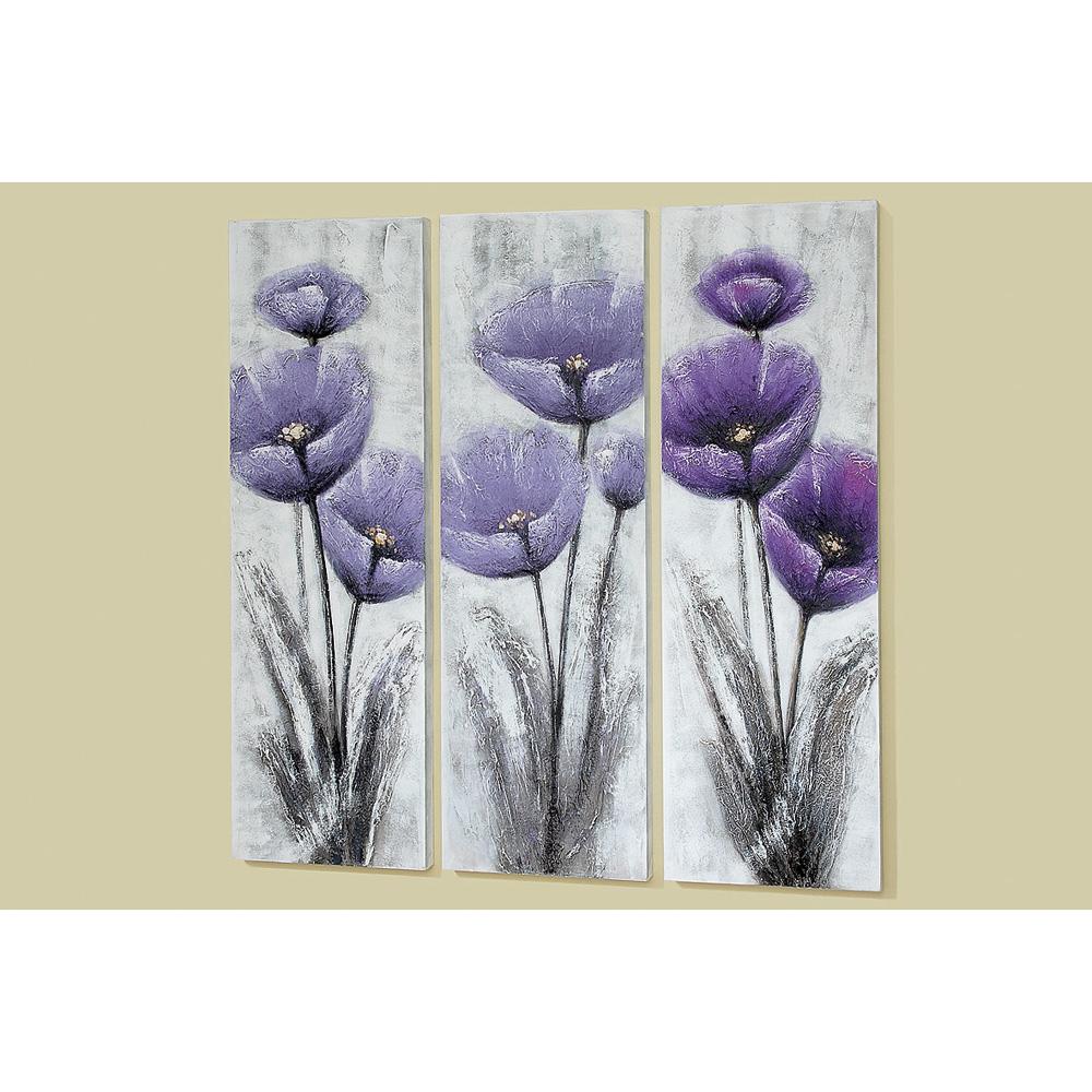 Fesselnde Wandbilder Blumen Sammlung Von Bild Wandbild Mohn Lila 120cm Mod. C