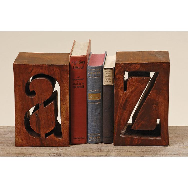buchst tzen set 2 tlg a z aus holz akazie 021146. Black Bedroom Furniture Sets. Home Design Ideas