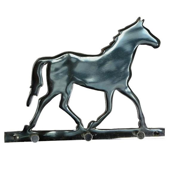 Hakenleiste 3 Fach Pferd Aluminium Silber 022575