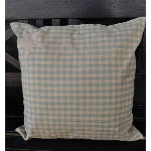 artefina kissenh lle karo beige gr n mit stern 50 x 50cm. Black Bedroom Furniture Sets. Home Design Ideas
