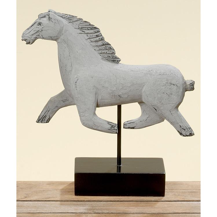 dekoobjekt pferd aus holz grau 36cm mod b 023258 sunflower design. Black Bedroom Furniture Sets. Home Design Ideas