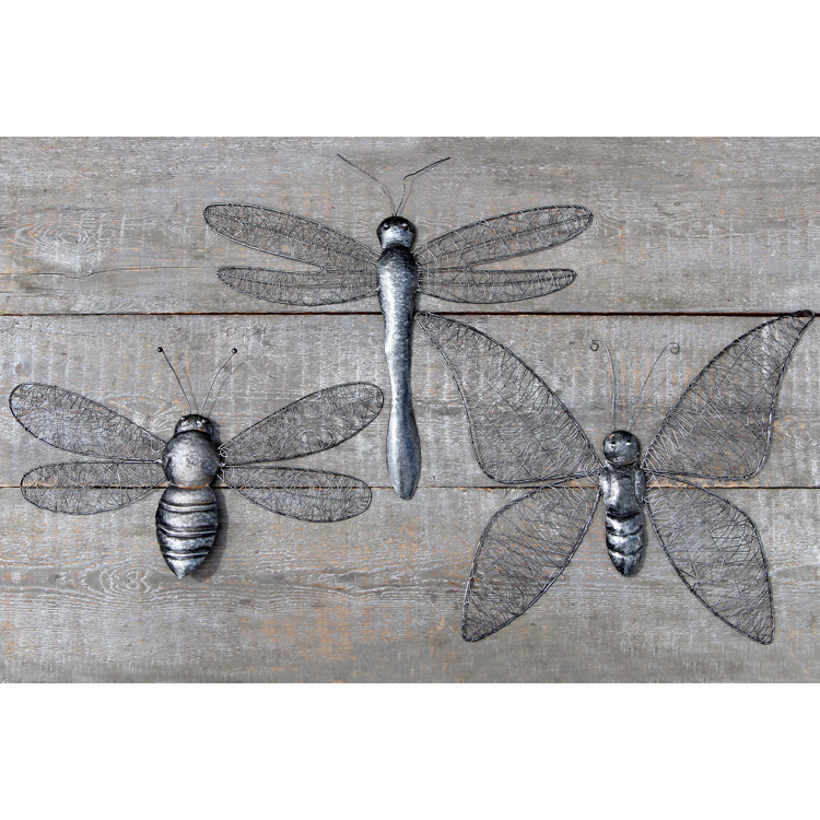 wanddekoration schmetterling aus metall 023361 sunflower design. Black Bedroom Furniture Sets. Home Design Ideas