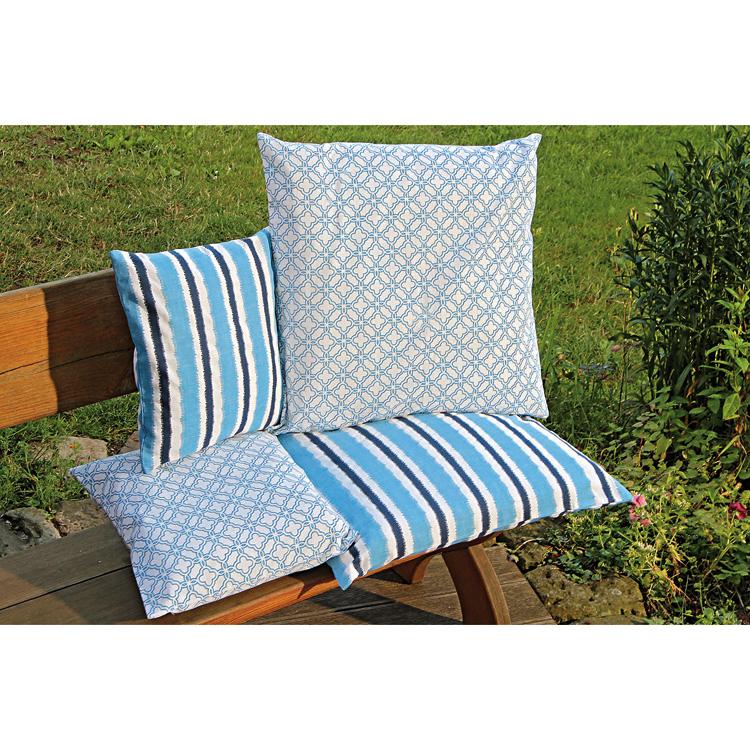 kissenh lle ornamentmuster blau retro 40x40cm 023642. Black Bedroom Furniture Sets. Home Design Ideas
