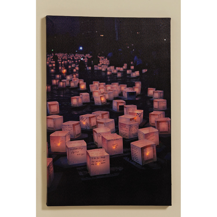 wandbild windlichtmotiv mit led beleuchtung 55cm 024162. Black Bedroom Furniture Sets. Home Design Ideas