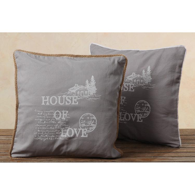 kissenh lle grau mit motivdruck lodge mod b 024382. Black Bedroom Furniture Sets. Home Design Ideas