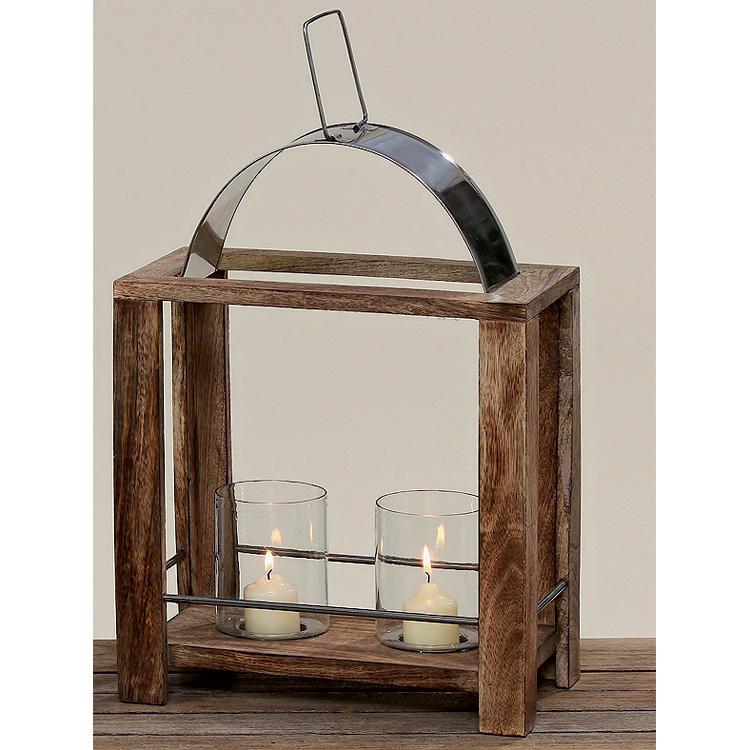 laterne aus holz und metall 40cm 024618 sunflower design. Black Bedroom Furniture Sets. Home Design Ideas