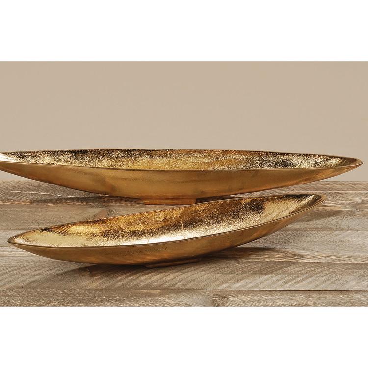 schale aus aluminium l nglich gold 65cm. Black Bedroom Furniture Sets. Home Design Ideas