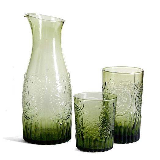 la vida krug karaffe aus glas verde gr n 1l 025557. Black Bedroom Furniture Sets. Home Design Ideas