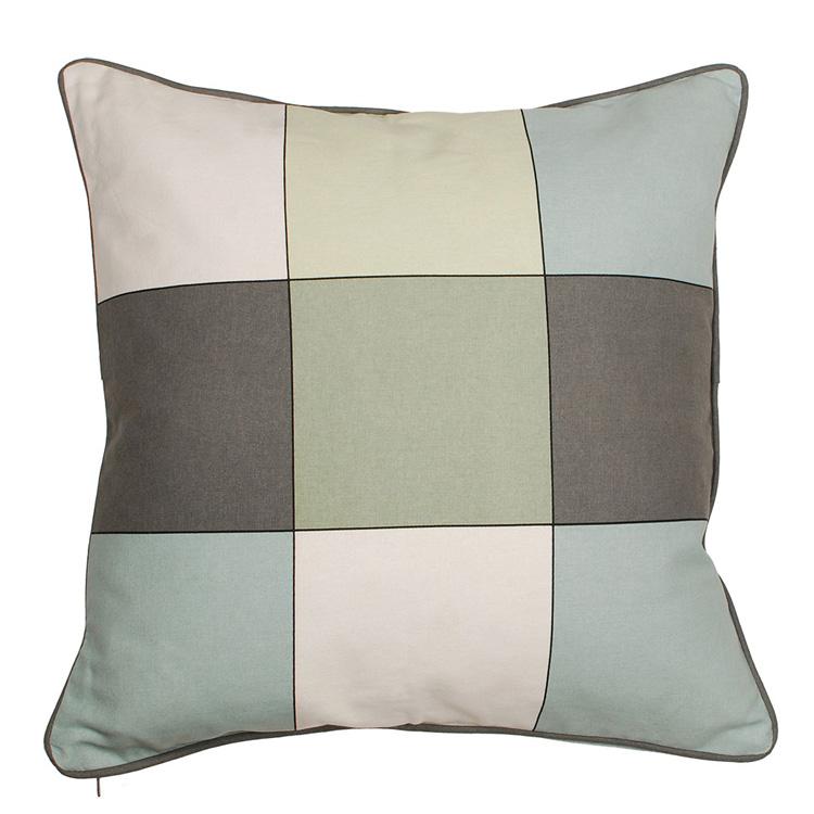 aspegren kissen mit f llung karo t rkis gr n 45cm 025639. Black Bedroom Furniture Sets. Home Design Ideas
