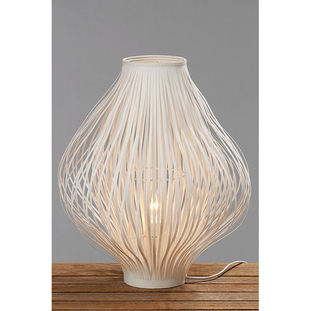 lampe tischlampe cocoon modern wei 40cm 026204 sunflower design. Black Bedroom Furniture Sets. Home Design Ideas