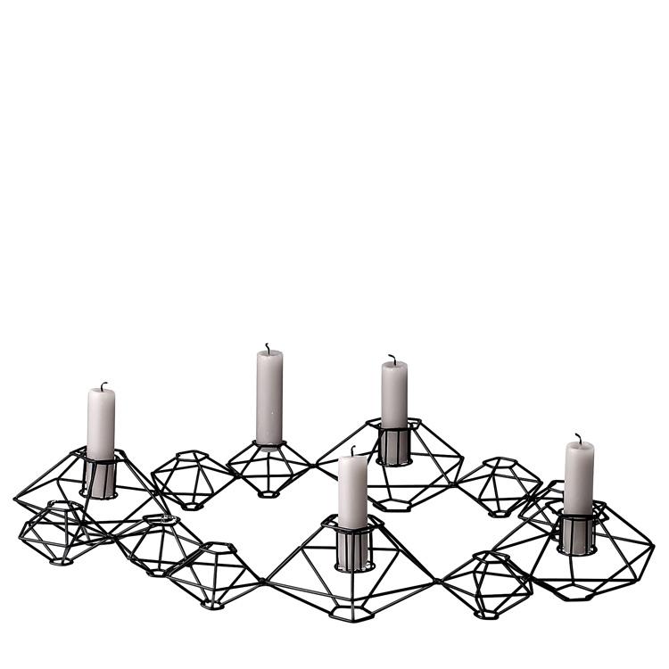 bloomingville kerzenhalter a metall schwarz 46cm 026345. Black Bedroom Furniture Sets. Home Design Ideas