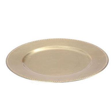 Dekoteller platzteller kunststoff gold 33cm 027931 - Dekoteller gold ...