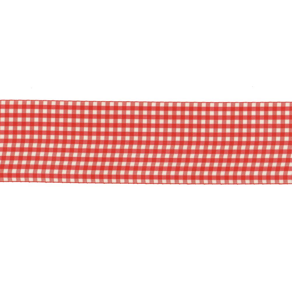 schleifenband geschenkband vichykaro rot wei kariert 1m 028057. Black Bedroom Furniture Sets. Home Design Ideas