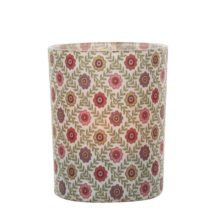 Teelichthalter Windlicht Vintage Flower 028746