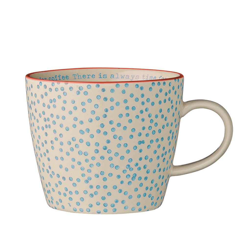 bloomingville geschirr tasse laura blau time for coffee 029040. Black Bedroom Furniture Sets. Home Design Ideas