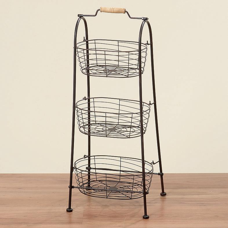 korb etagere regal metall 80cm 029210 sunflower design. Black Bedroom Furniture Sets. Home Design Ideas