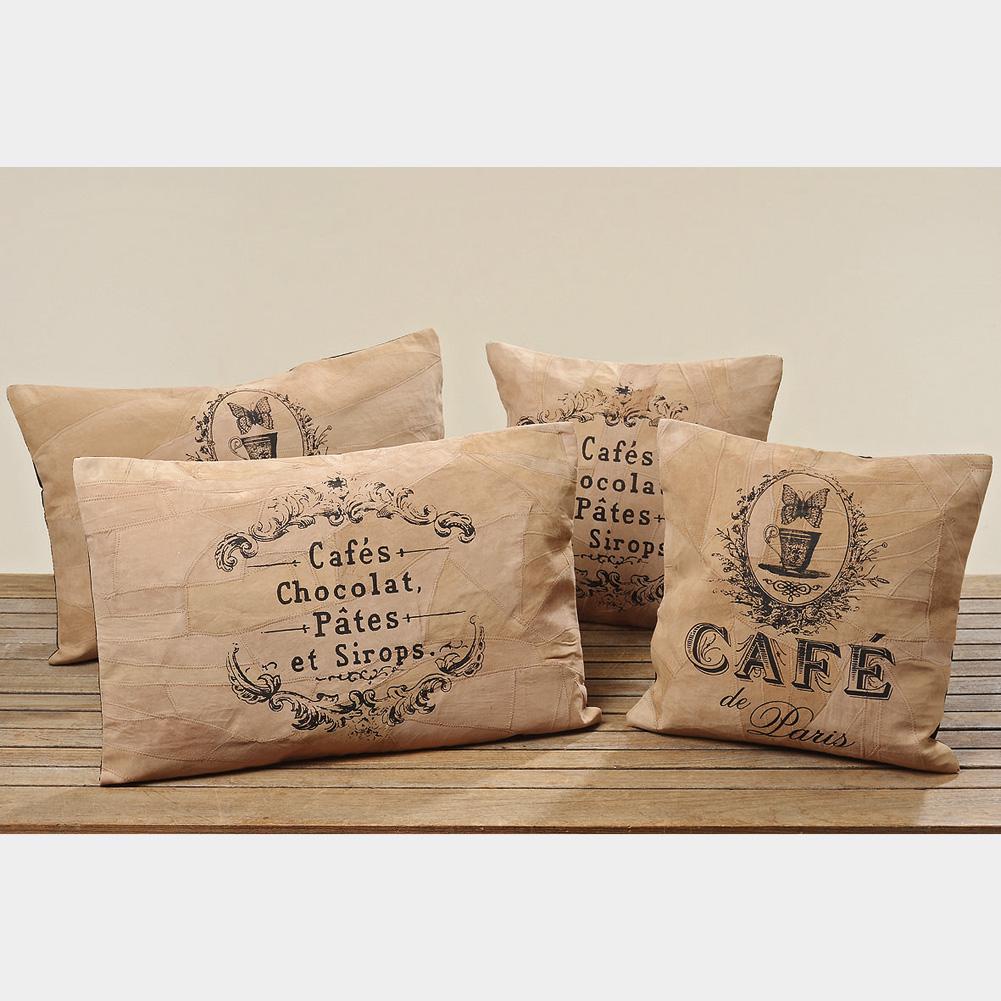 kissen caf aus leder vintage braun 40 x 60cm mod b ebay. Black Bedroom Furniture Sets. Home Design Ideas
