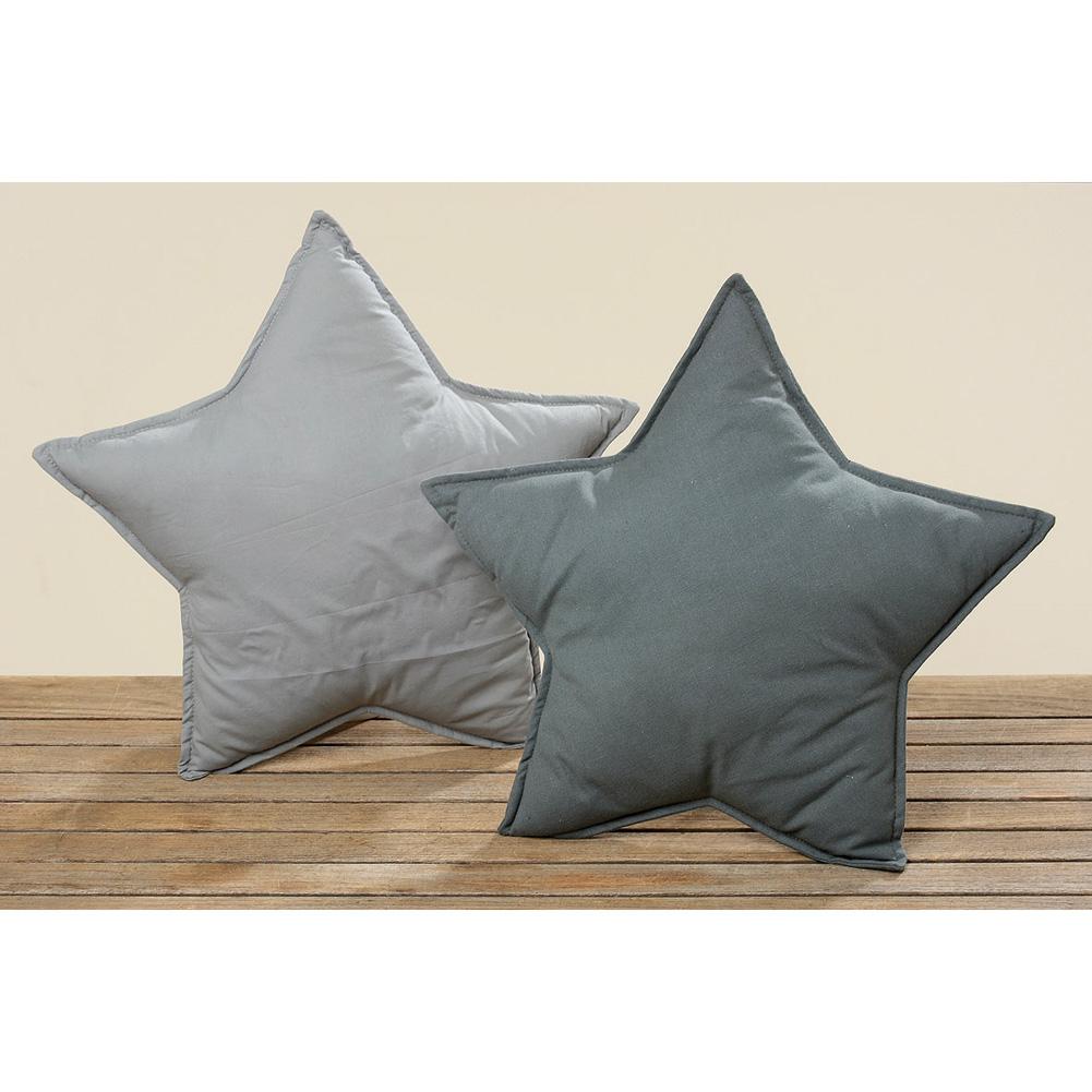 sternkissen kissen in sternform 40cm grau 029536. Black Bedroom Furniture Sets. Home Design Ideas