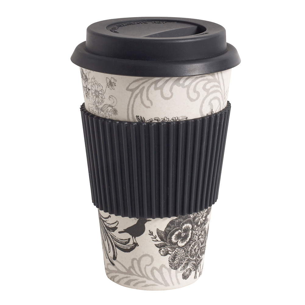 nordal kaffeebecher coffee to go bambus mit fantasiemuster 029894. Black Bedroom Furniture Sets. Home Design Ideas