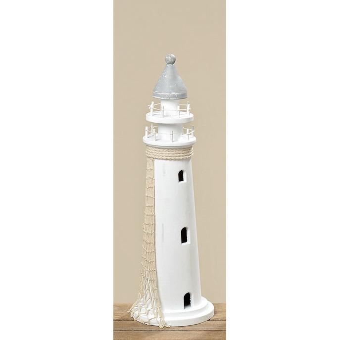 leuchtturm aus holz 45cm wei 030037 sunflower design. Black Bedroom Furniture Sets. Home Design Ideas