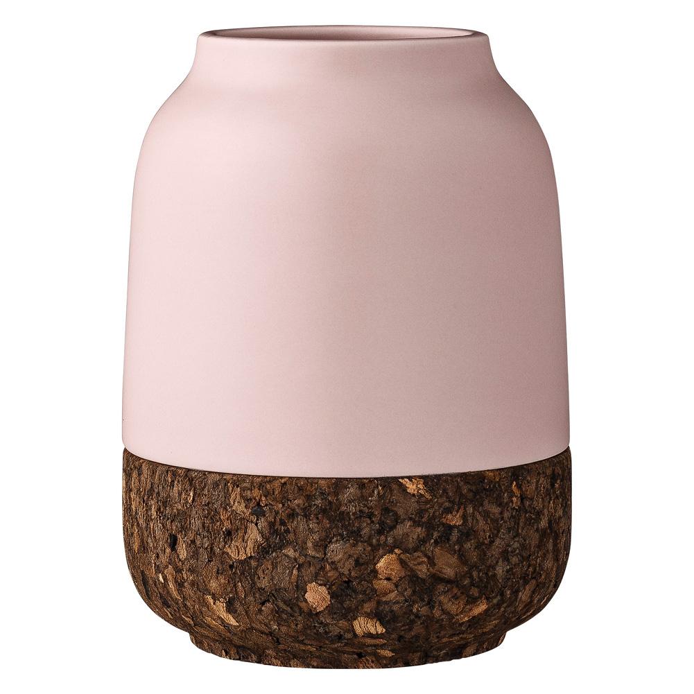 bloomingville vase aus keramik und kork rosa 030144. Black Bedroom Furniture Sets. Home Design Ideas