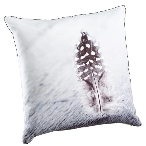 kissen mit feder motiv 40cm grau 030330 sunflower design. Black Bedroom Furniture Sets. Home Design Ideas