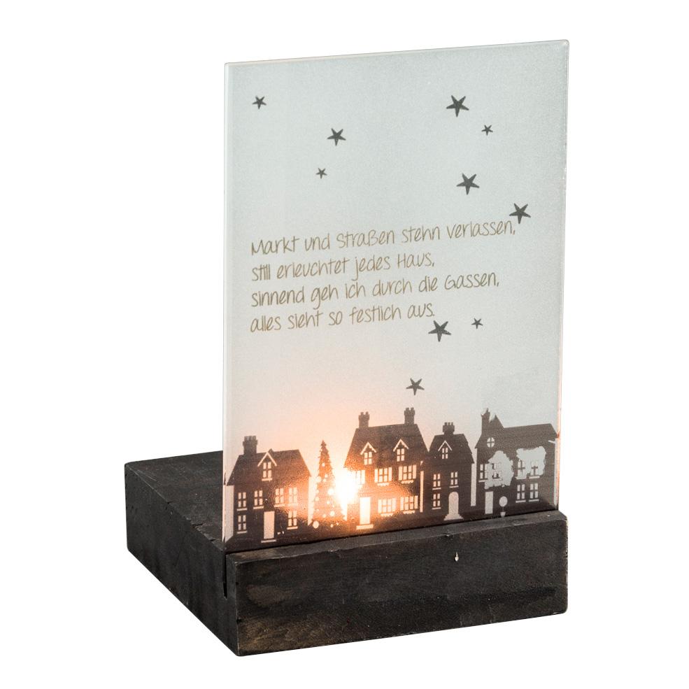 teelichthalter mit glasscheibe weihnachten eichendorff. Black Bedroom Furniture Sets. Home Design Ideas