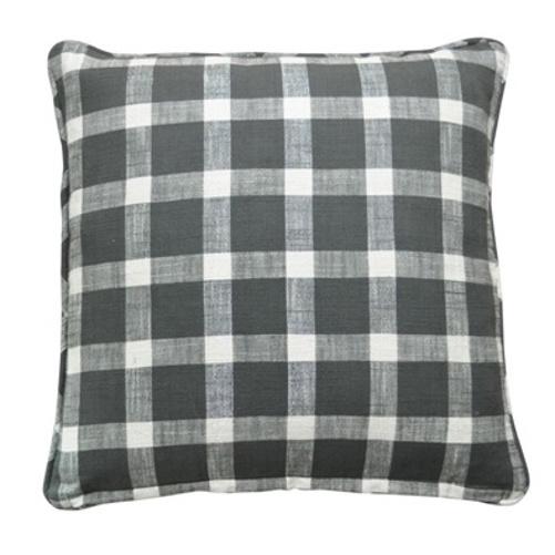 artefina kissenh lle karo silber grau 50cm 031156. Black Bedroom Furniture Sets. Home Design Ideas