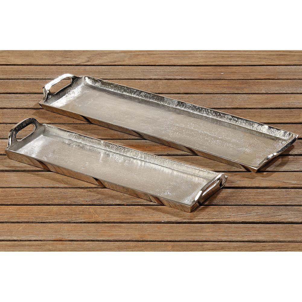 tablett aus aluminium l nglich silber 36cm 031346 sunflower design. Black Bedroom Furniture Sets. Home Design Ideas