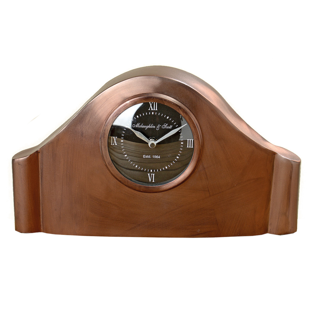 uhr tischuhr aus metall kupfer 031402 sunflower design. Black Bedroom Furniture Sets. Home Design Ideas
