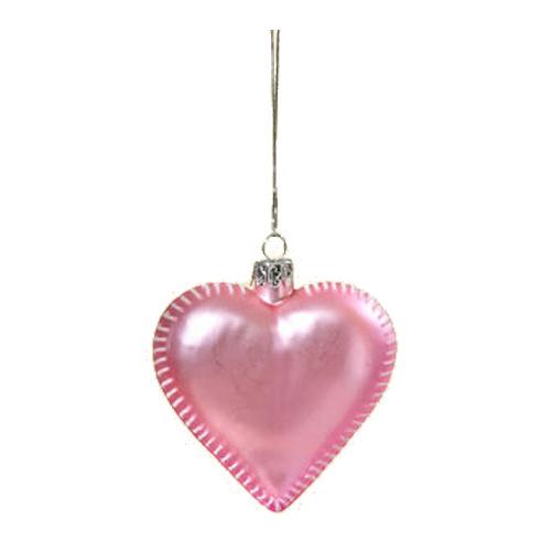 Dekohänger Herz aus Glas rosa matt