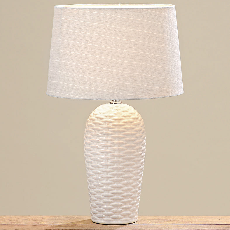 lampe tischlampe keramik wei 032729 sunflower design. Black Bedroom Furniture Sets. Home Design Ideas