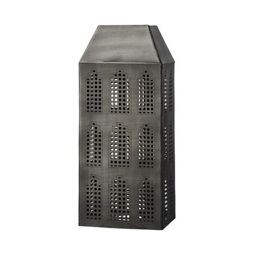 Windlicht haus aus metall 30cm ebay for Haus aus metall