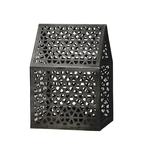 Windlicht haus aus metall 20cm 032755 sunflower design for Haus aus metall