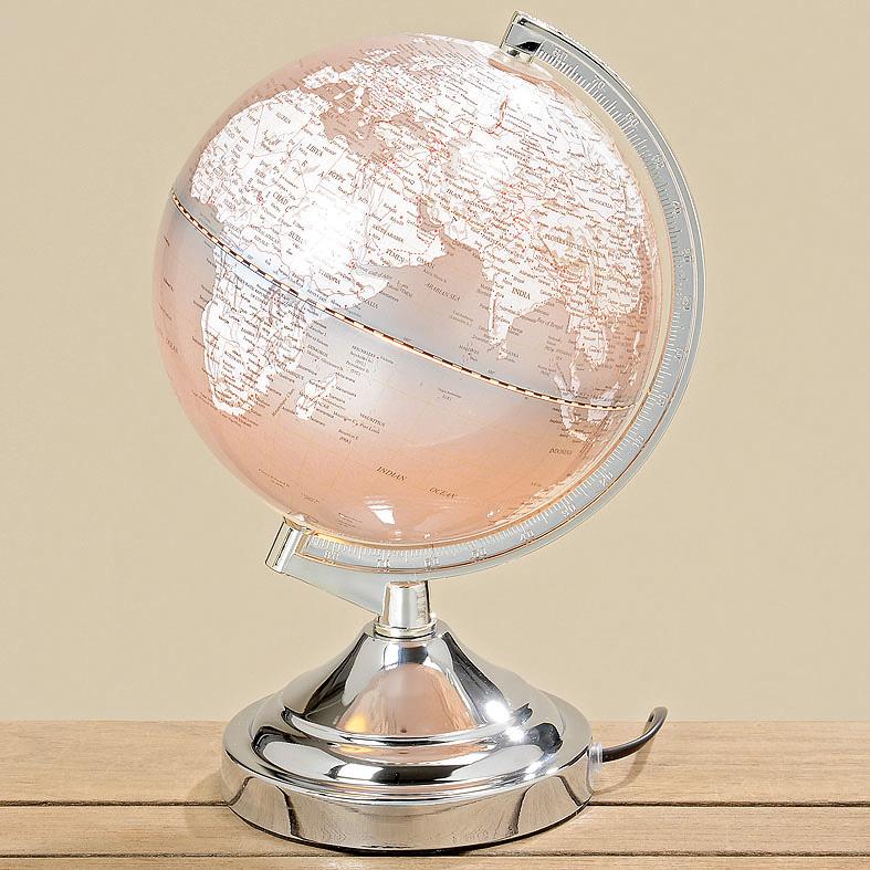 lampe tischlampe globus silber grau 32cm 032902. Black Bedroom Furniture Sets. Home Design Ideas