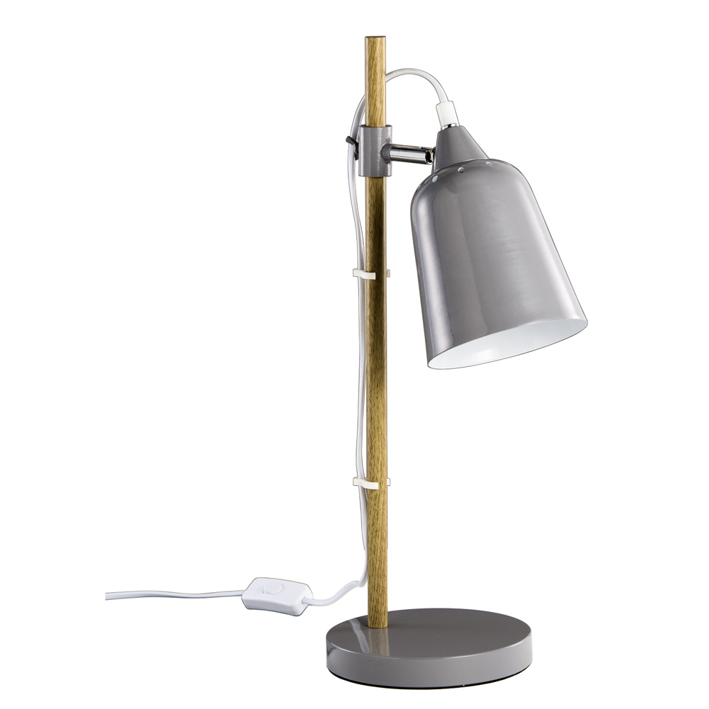 tischlampe schreibtischlampe metall grau retro 033274. Black Bedroom Furniture Sets. Home Design Ideas