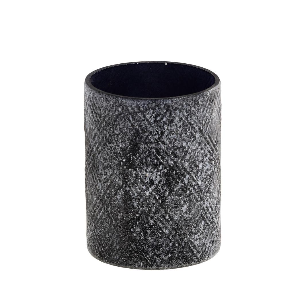 Teelichthalter Windlicht Aus Glas Schwarz Antik 8cm 033275