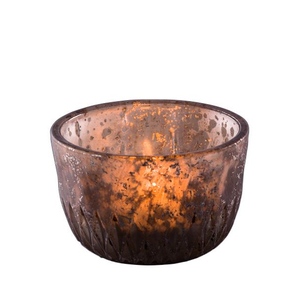 teelichthalter aus glas silber grau vintage 033301. Black Bedroom Furniture Sets. Home Design Ideas