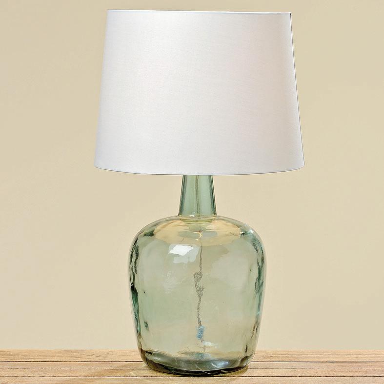 lampe tischlampe mit glasfu flasche gr n 60cm 034003. Black Bedroom Furniture Sets. Home Design Ideas