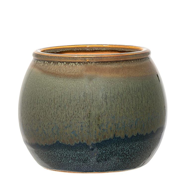 Bloomingville blumentopf aus keramik gr n 17cm 034458 for Blumentopf keramik
