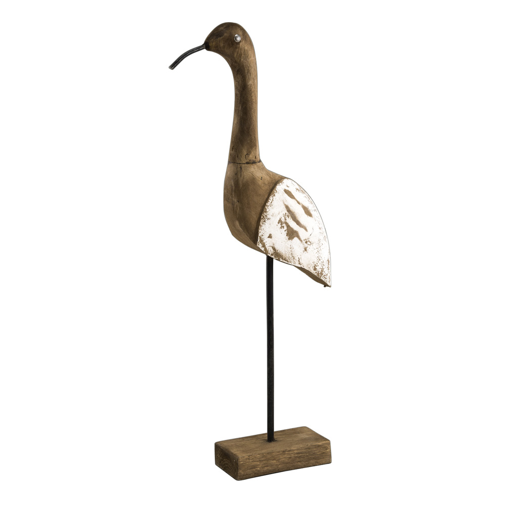 dekofigur vogel aus holz antiklook maritim 45cm 034733. Black Bedroom Furniture Sets. Home Design Ideas