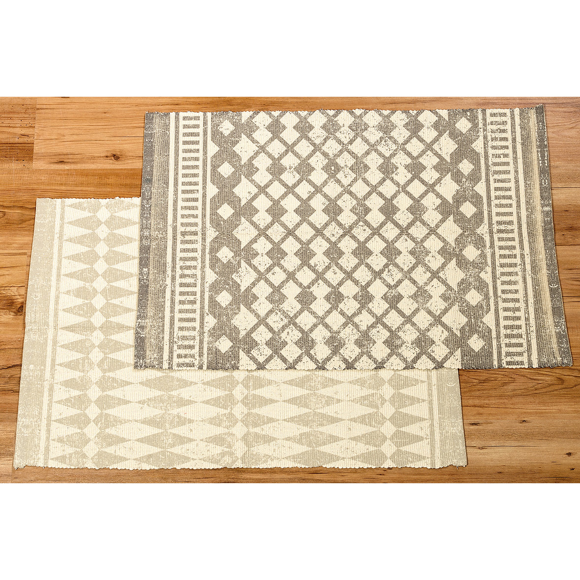 Teppich mit Ethnomuster 90cm creme  grau  035482