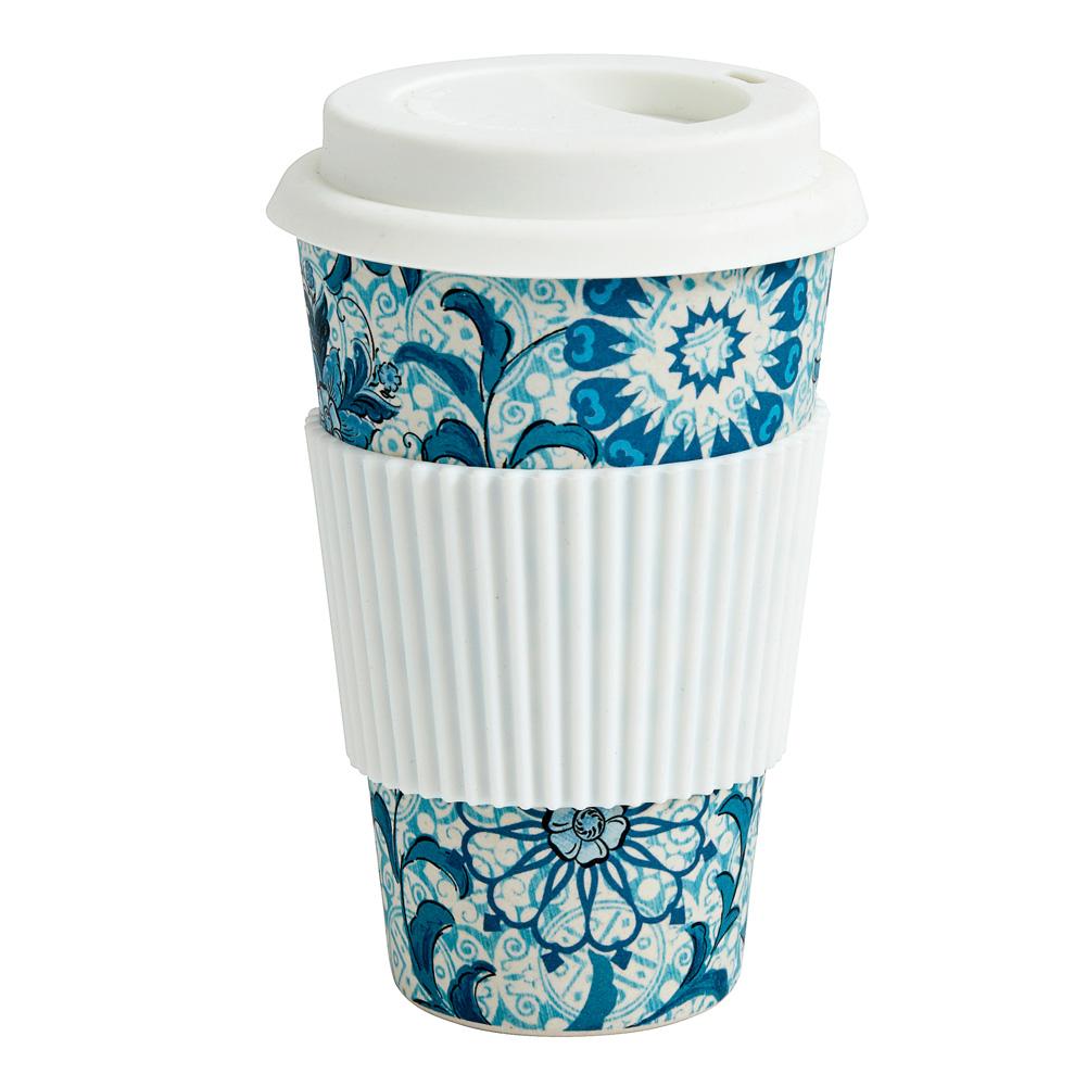 nordal kaffeebecher coffee to go bambus blau gebl mt 035572. Black Bedroom Furniture Sets. Home Design Ideas