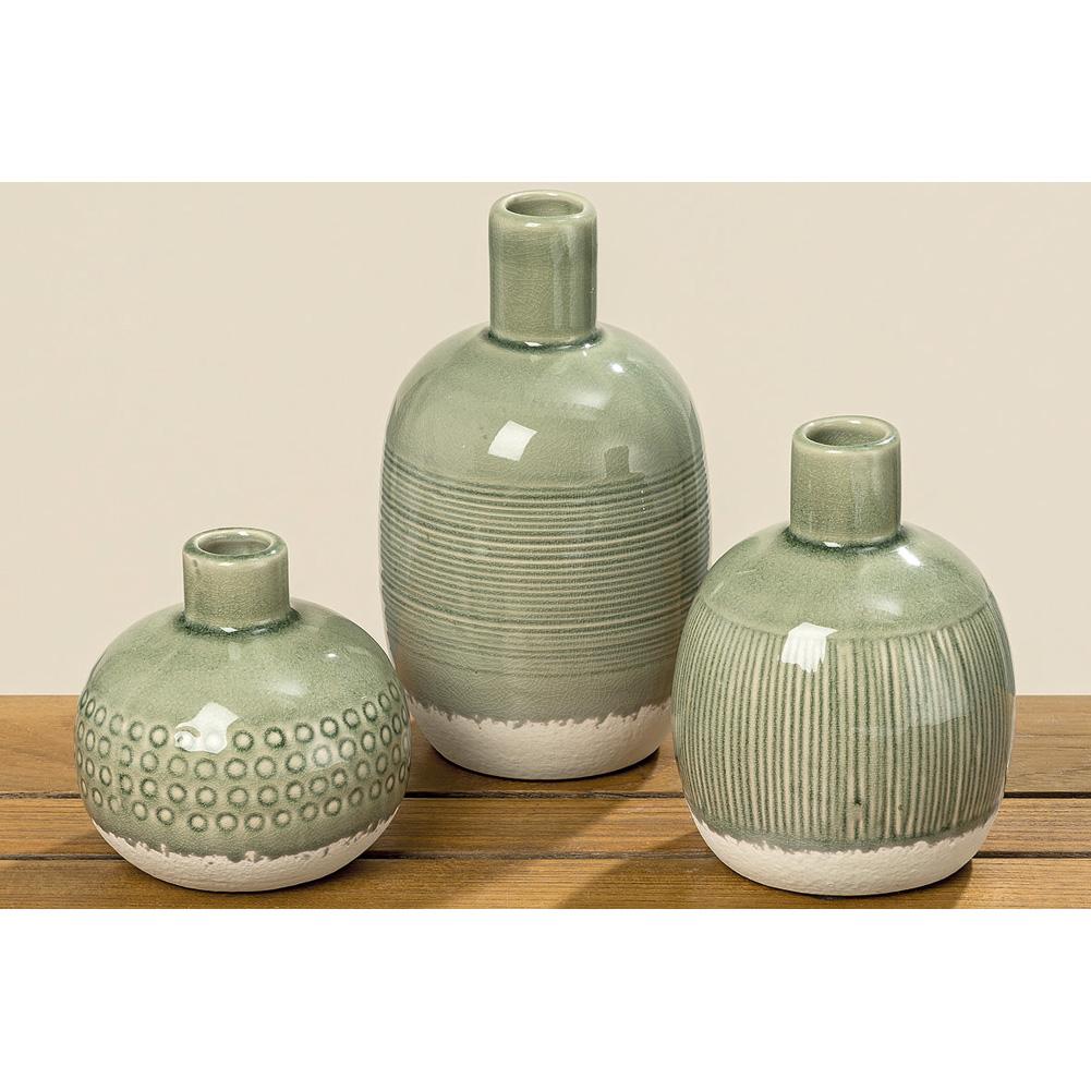 Vase Aus Keramik 10cm Grün 035850 Sunflower Design