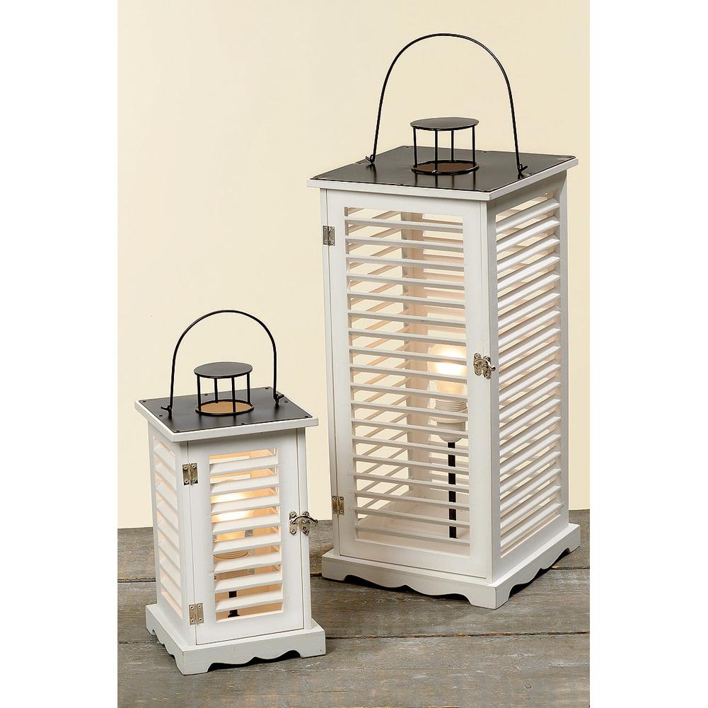 lampe laterne mit lamellent ren maritim wei 60cm 035953. Black Bedroom Furniture Sets. Home Design Ideas