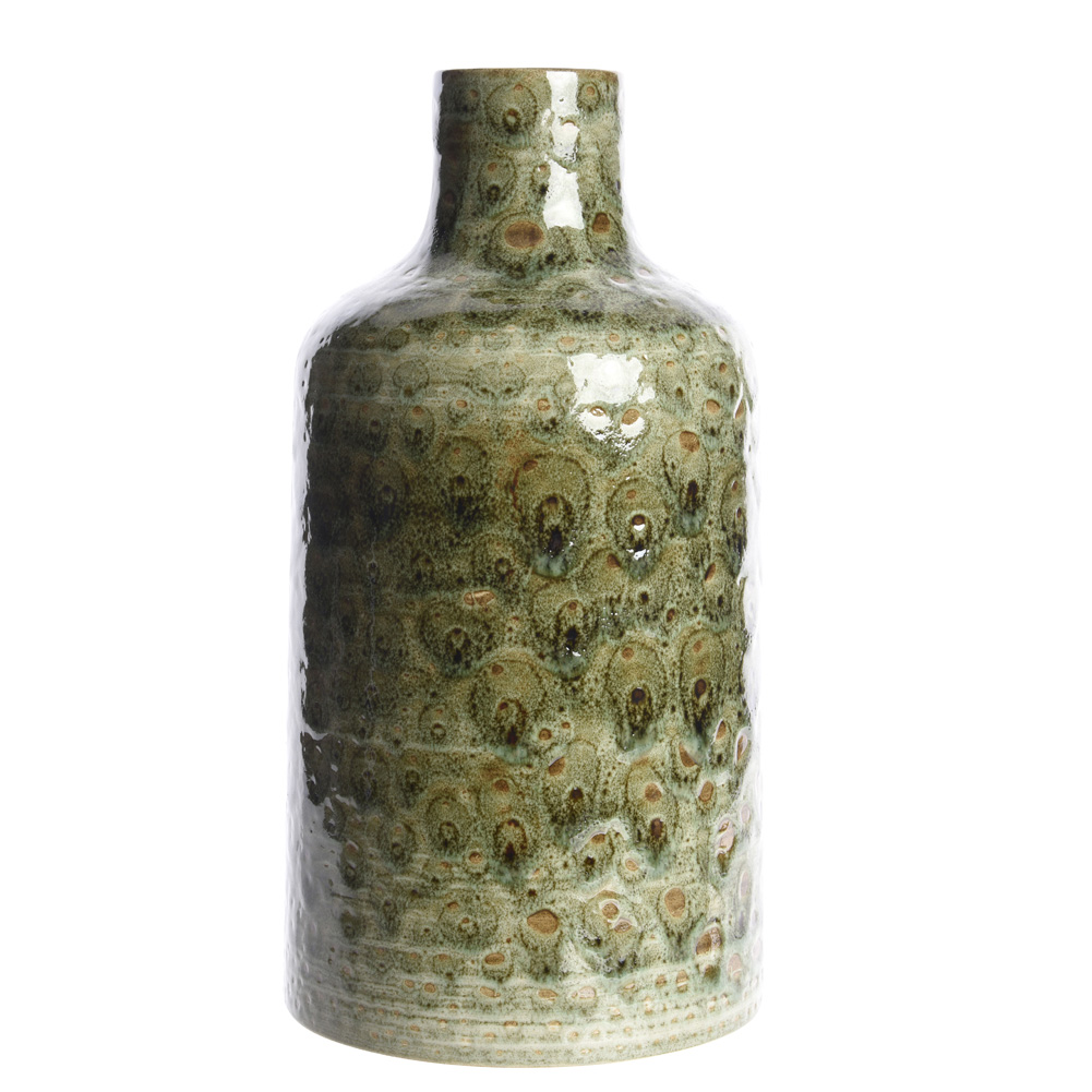 Vase Aus Keramik Schlangenhaut Grün 30cm 036453 Sunflower Design